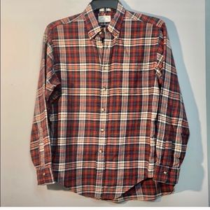 H. Stockton Men's Plaid Shirt 100% Cotton Sz Large